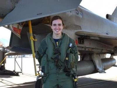 Lieutenant Elena Gutiérrez, Spain's first woman Eurofighter jet pilot