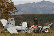 Two die as light airplane crashes on take-off