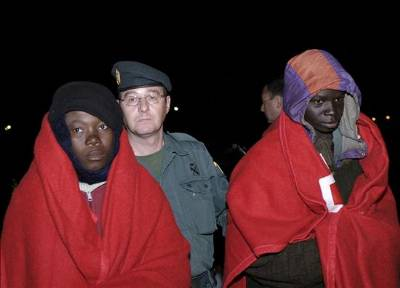 African rafts intercepted off Níjar coast