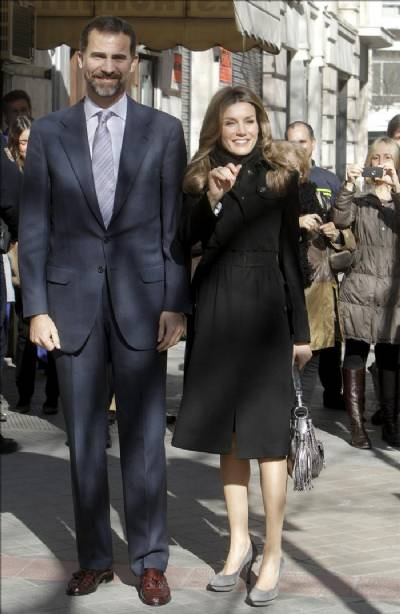 Prince Felipe and Princess Letizia visit centre funded by their mystery inheritance