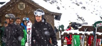 Prince Felipe seen skiing at Aramón Formigal