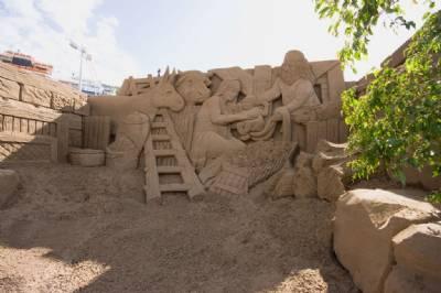 Gran Canaria sand Nativity scene open to public