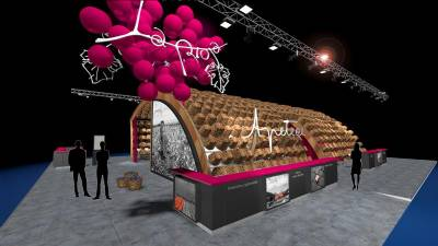 La Rioja's 'weaves' its FITUR stand from chestnut wood baskets