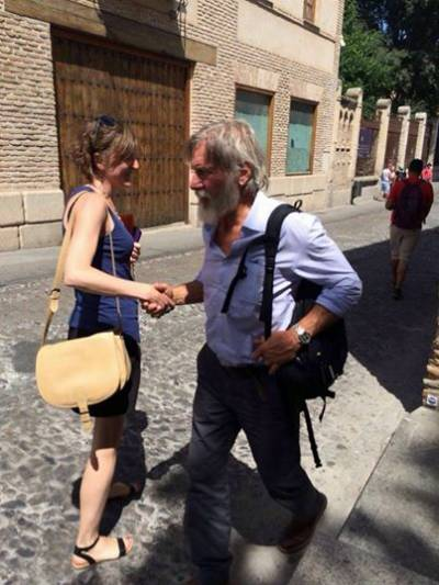 Harrison Ford and Calista Flockhart spotted sightseeing in Toledo
