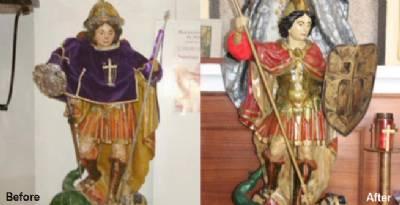 Salamanca's 'botched' Michelangelo compared to Cecilia's Ecce Homo