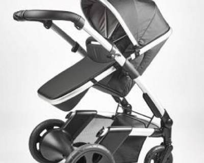 Heated seat pram with mobile charger wins award