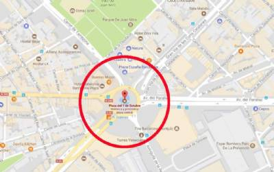 Hacker changes Plaza de España to \'Plaza del 1 de Octubre\' on Google ...