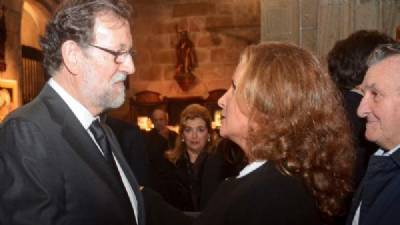 Huge support for Rajoy after death of his father, 97