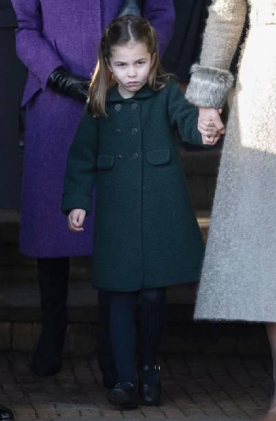 Princess Charlotte's Spanish-designed coat seen on UK national TV