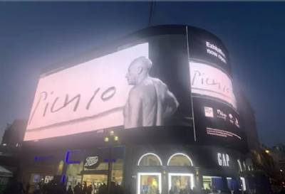 Picasso & Paper: Málaga lights up Piccadilly Circus