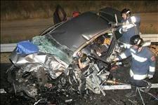 Three die and two injured in car crash