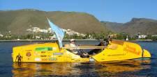 Argentinian adventurer sets off to row across Atlantic