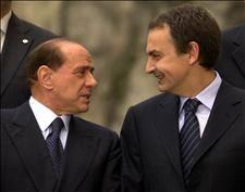 Zapatero and Berlusconi discuss European Constitution in Cuenca