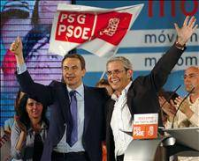 Zapatero calls on Galician voters to end `right-wing despotism´