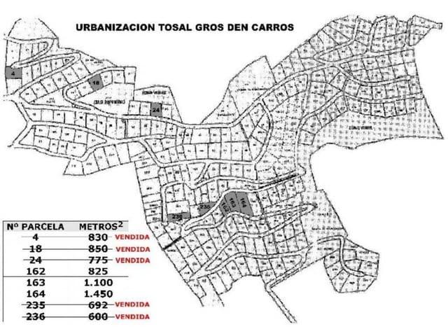Byggegrund til salg i La Font d'En Carros - € 70.000 (Ref: 2571239)