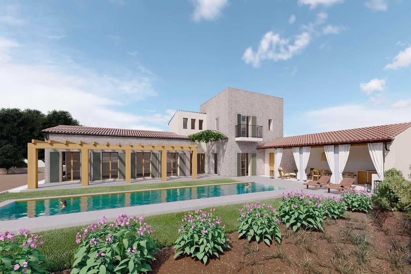 4 soveværelse Finca/Landehus til salg i Ses Salines med swimmingpool - € 2.490.000 (Ref: 6228857)