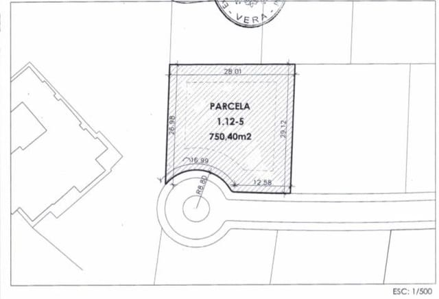 Ubebygd land til salgs i Vera - € 120 000 (Ref: 5803171)