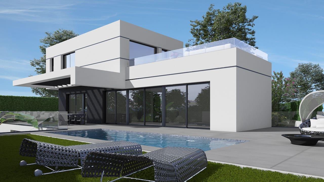 Chalet de 3 habitaciones en Polop en venta con piscina - 555.000 € (Ref: 4433624)