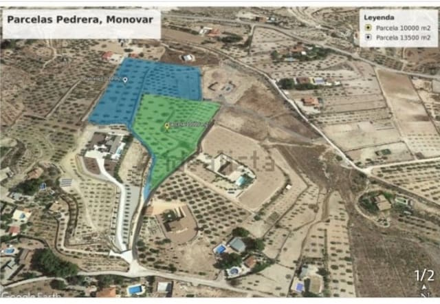 Solar/Parcela en Monóvar / Monóver en venta - 45.000 € (Ref: 5341944)