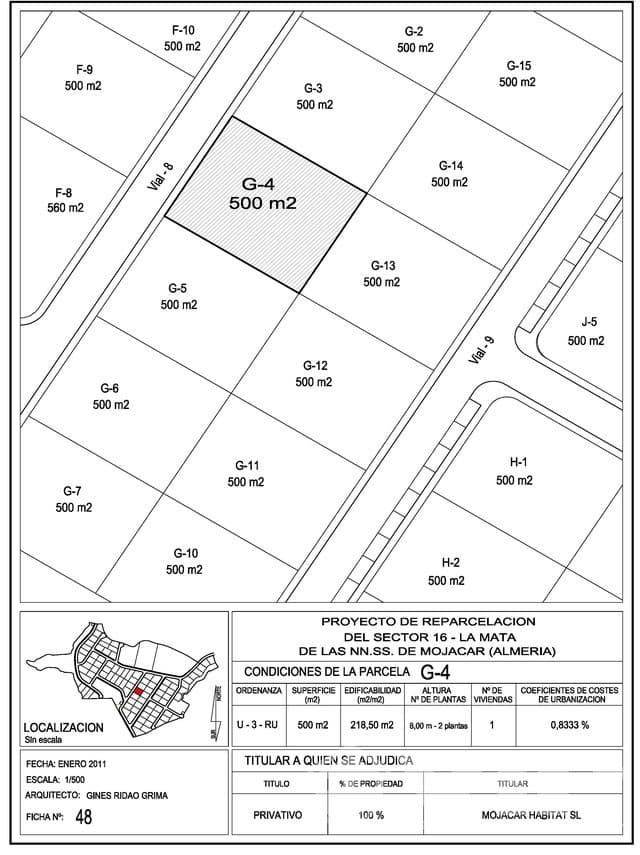 Terreno Não Urbanizado para venda em Mojacar - 95 000 € (Ref: 5374654)