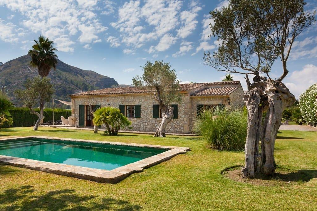 3 slaapkamer Finca/Landhuis te huur in Alcudia met zwembad - € 2.950 (Ref: 5600002)
