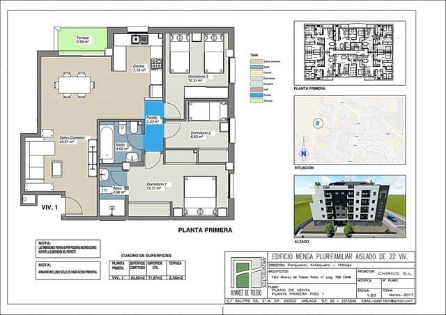 3 makuuhuone Asunto myytävänä paikassa Antequera - 144 850 € (Ref: 5332272)