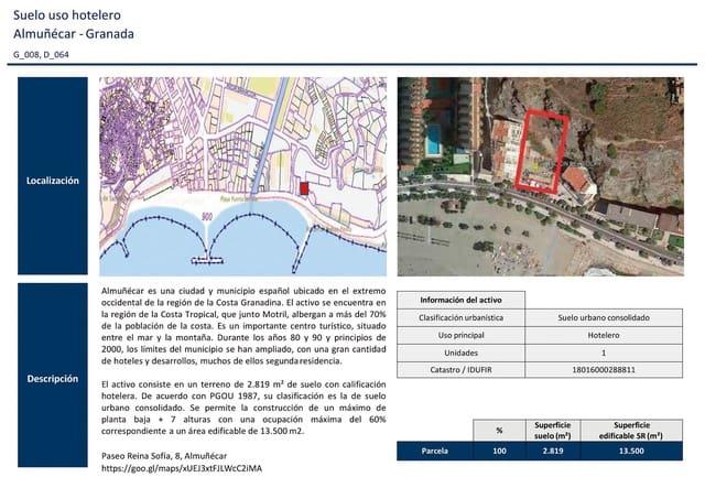 Bauplatz zu verkaufen in Almunecar - 1.600.000 € (Ref: 5937099)