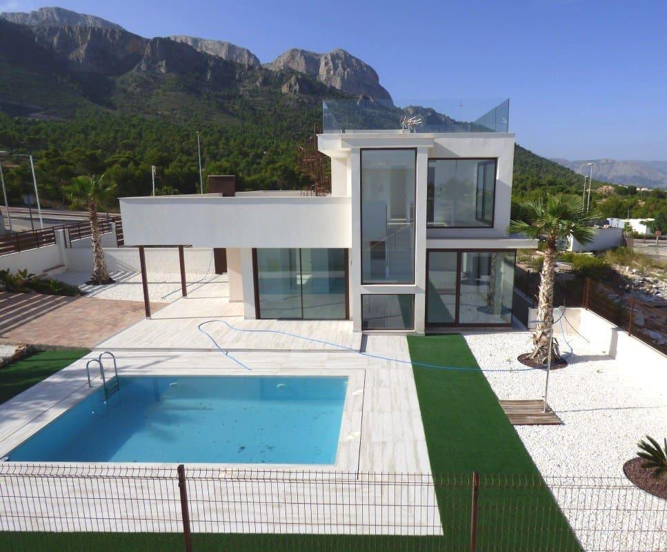 Pareado de 3 habitaciones en Polop en venta con piscina - 398.000 € (Ref: 4819026)
