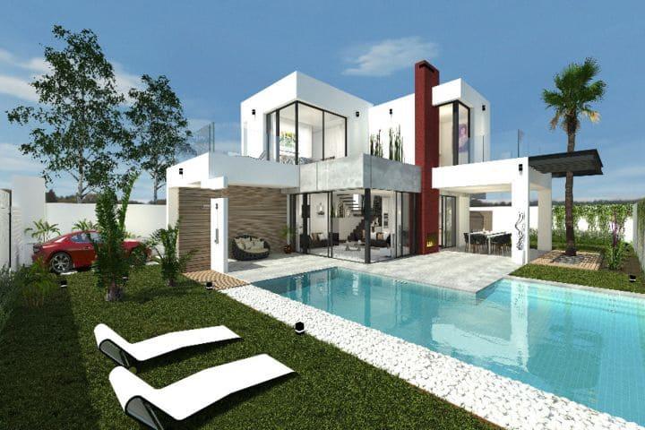 Chalet de 3 habitaciones en Pilar de la Horadada en venta con piscina garaje - 485.000 € (Ref: 5022580)