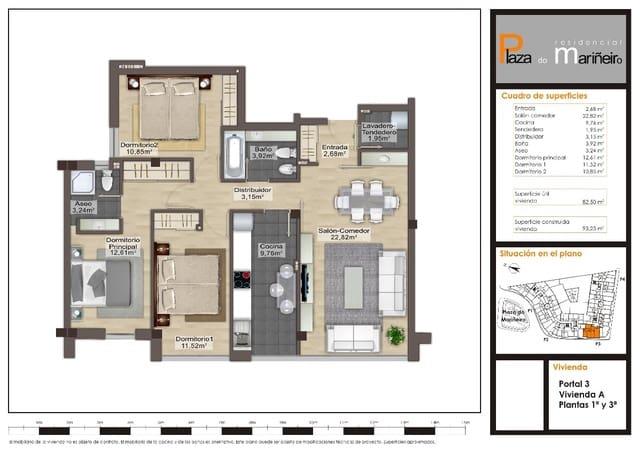 3 bedroom Flat for sale in Burela with garage - € 69,100 (Ref: 3713295)