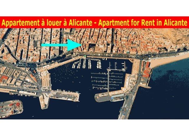 2 Zimmer Ferienapartment in Alicante / Alacant Stadt - 600 € (Ref: 4858747)