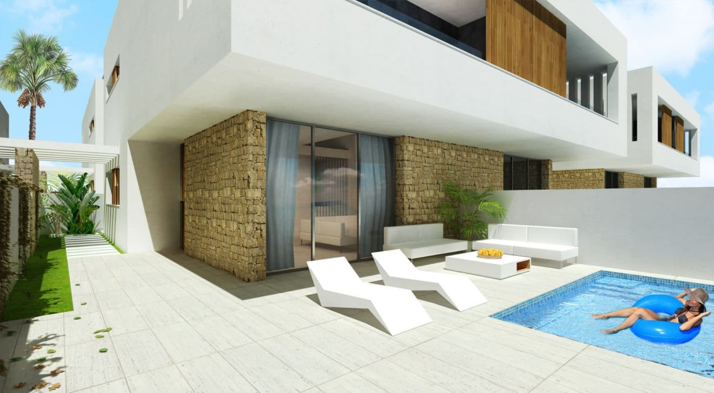 3 bedroom Semi-detached Villa for sale in San Pedro del Pinatar with pool - € 277,000 (Ref: 5455496)