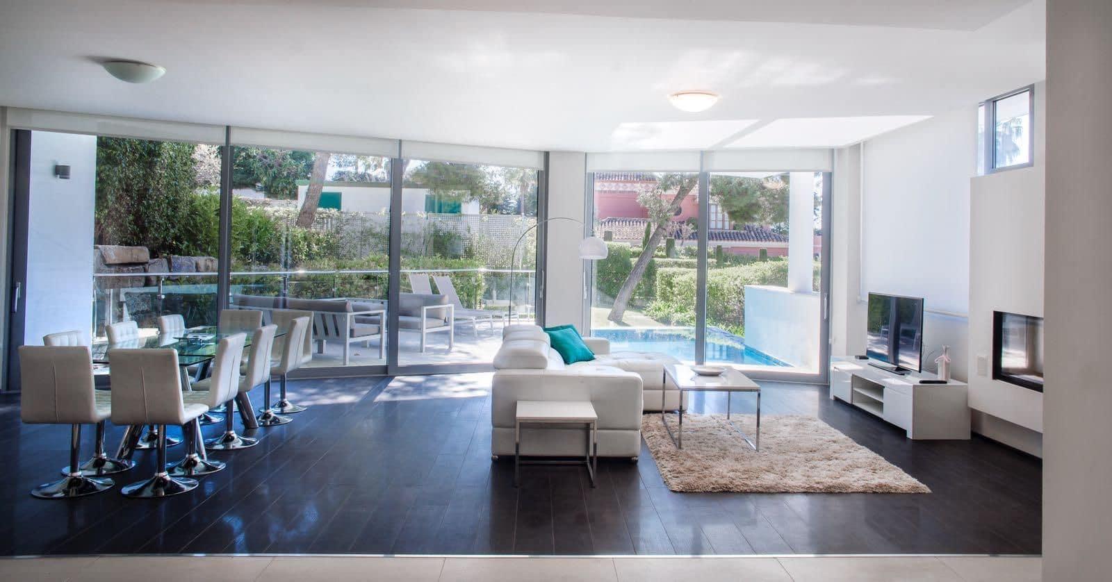 5 sovrum Semi-fristående Villa att hyra i Marbella med pool garage - 12 000 € (Ref: 5013199)