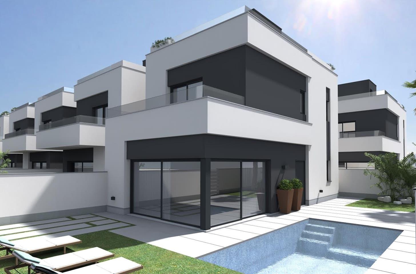Chalet de 4 habitaciones en Pilar de la Horadada en venta con piscina garaje - 449.900 € (Ref: 4947375)