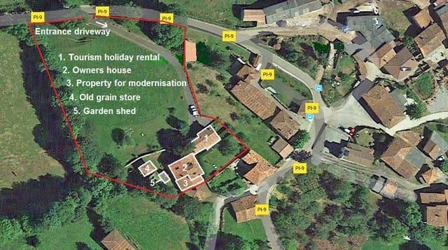 7 chambre Finca/Maison de Campagne à vendre à Cadanes - 420 000 € (Ref: 4986382)