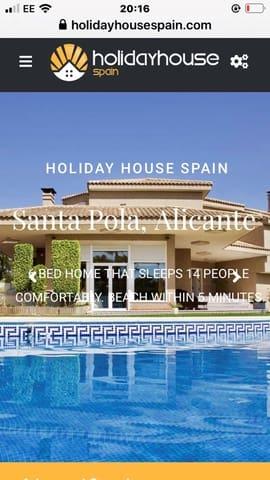 6 soverom Villa til salgs i Santa Pola med svømmebasseng garasje - € 1 750 (Ref: 5615421)