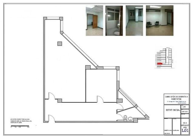 Oficina de 2 habitaciones en Barcelona ciudad en venta - 315.000 € (Ref: 5618281)