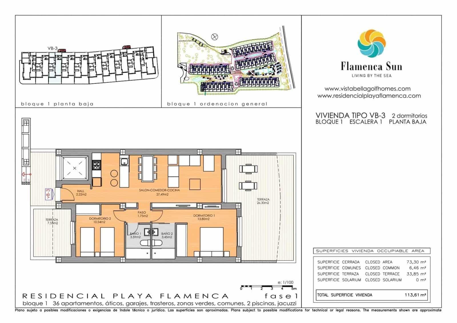 Apartamento de 2 habitaciones en Playa Flamenca en venta con garaje - 177.900 € (Ref: 5072638)