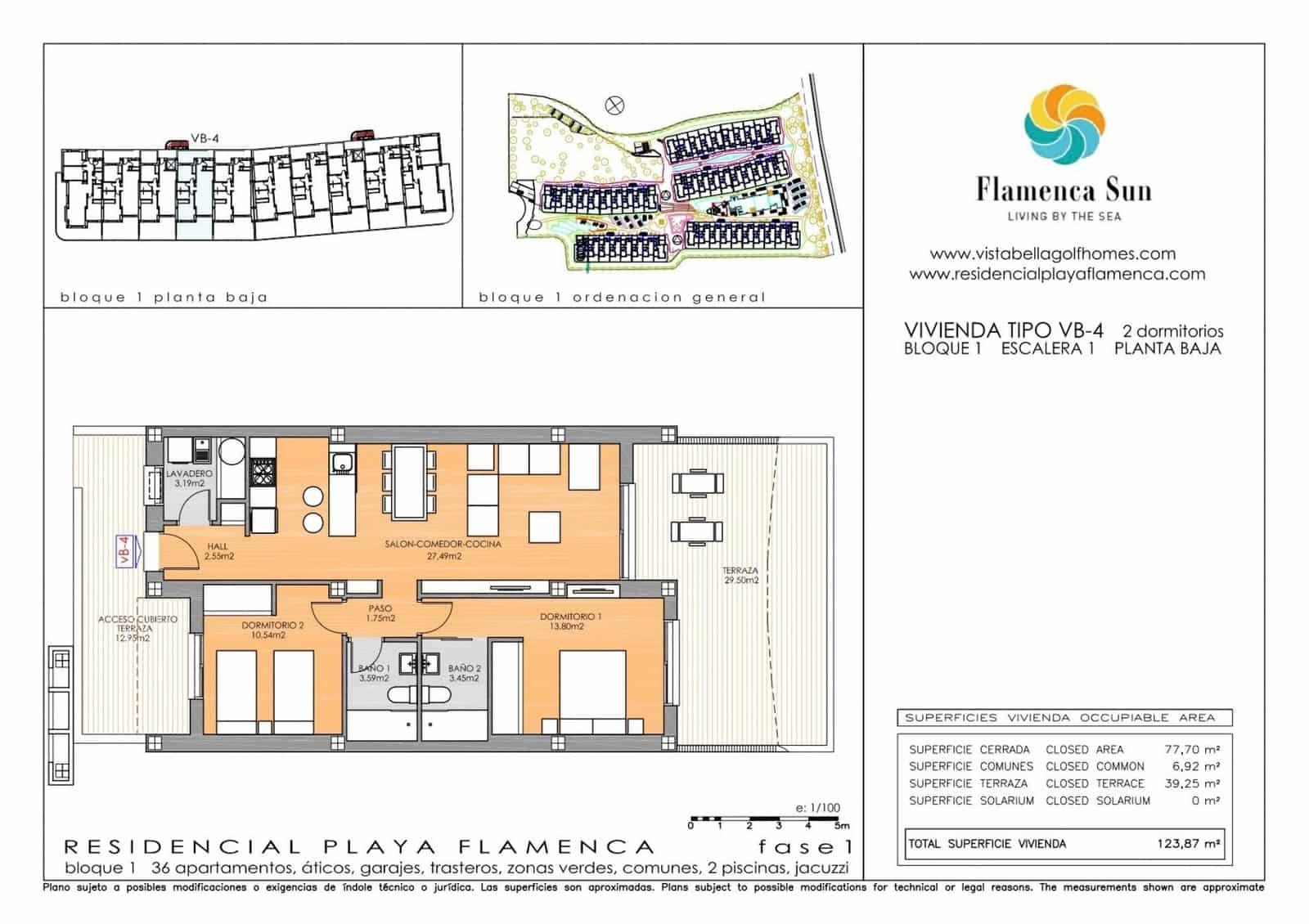 Apartamento de 2 habitaciones en Playa Flamenca en venta con garaje - 187.900 € (Ref: 5072639)