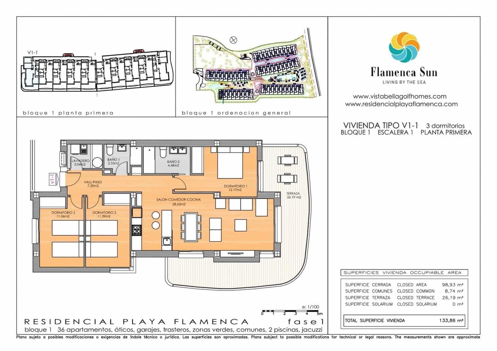 Apartamento de 3 habitaciones en Playa Flamenca en venta con garaje - 234.900 € (Ref: 5072645)