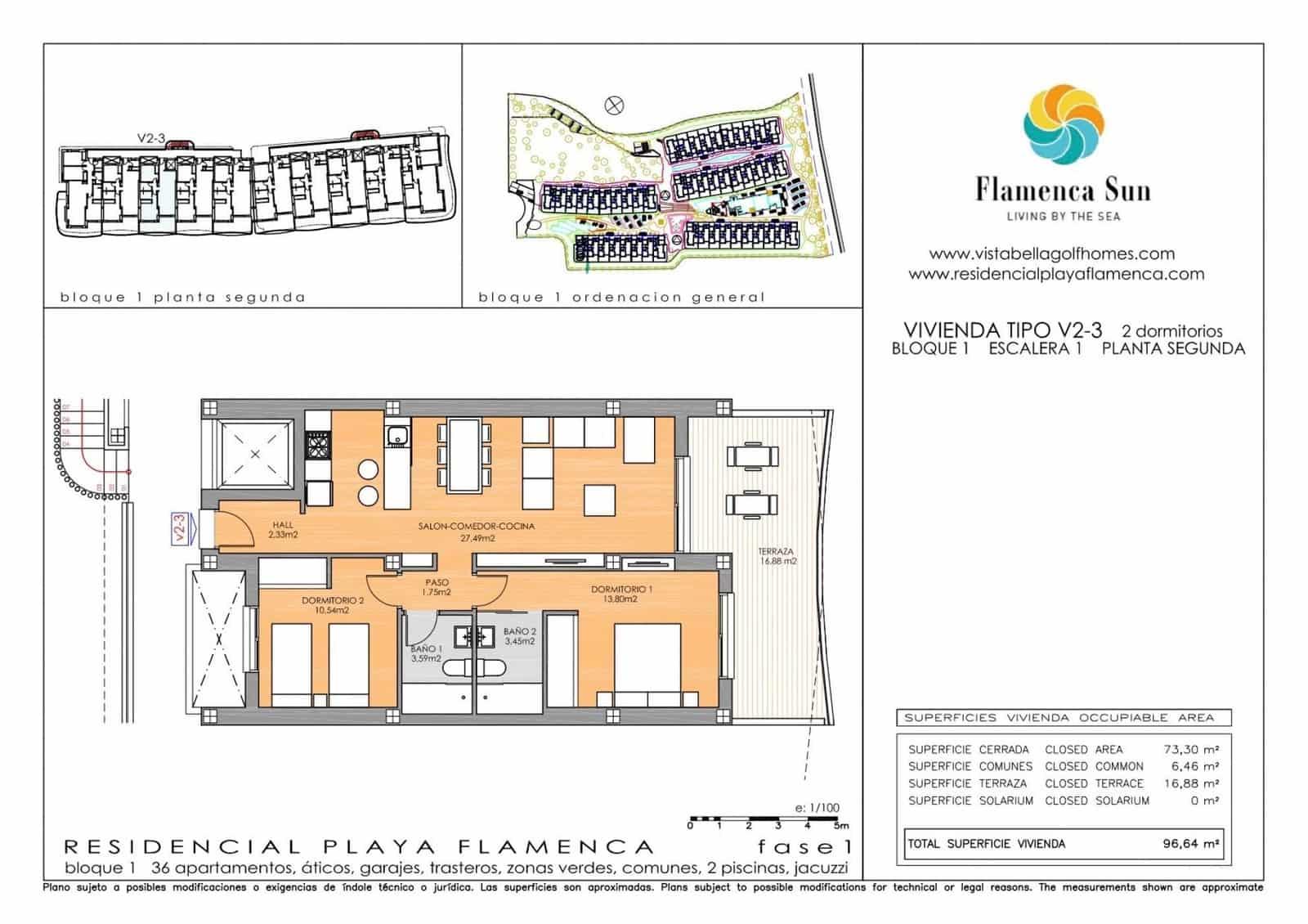 Apartamento de 2 habitaciones en Playa Flamenca en venta con garaje - 214.900 € (Ref: 5080505)