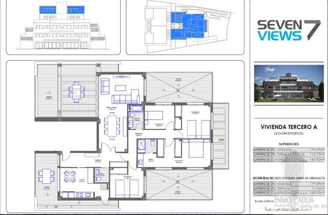 4 sypialnia Penthouse na sprzedaż w Chilches z basenem garażem - 349 000 € (Ref: 5825959)