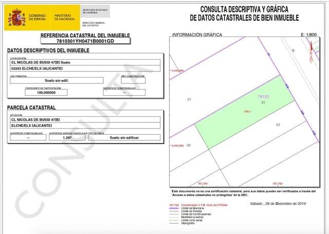 Solar/Parcela en Torrellano en venta - 375.000 € (Ref: 5014820)