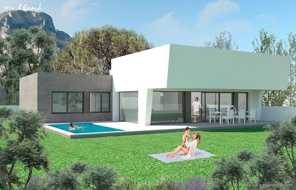 Chalet de 3 habitaciones en Polop en venta con piscina garaje - 436.000 € (Ref: 4723872)