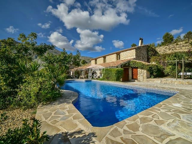 5 chambre Finca/Maison de Campagne à vendre à Calpe / Calp avec piscine - 690 000 € (Ref: 5053085)