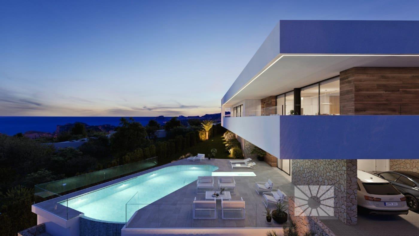 3 makuuhuone Huvila myytävänä paikassa Cumbre del Sol mukana uima-altaan  autotalli - 1 845 000 € (Ref: 6164021)