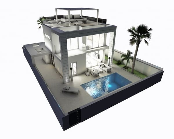 3 bedroom Villa for sale in Cabo Roig with pool - € 379,900 (Ref: 5202498)