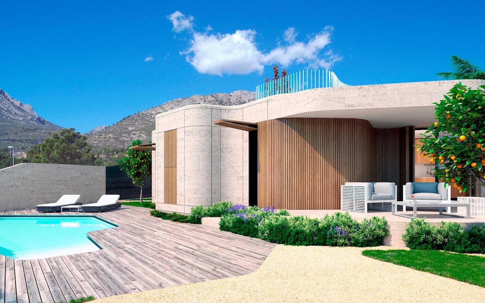 Chalet de 3 habitaciones en Polop en venta con piscina - 405.400 € (Ref: 3832045)