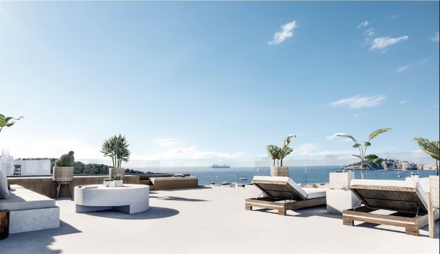 3 makuuhuone Kattohuoneisto myytävänä paikassa Ibiza kaupunki mukana uima-altaan - 995 000 € (Ref: 5204881)