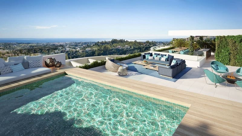 3 bedroom Penthouse for sale in Benahavis with pool - € 1,299,000 (Ref: 5911205)